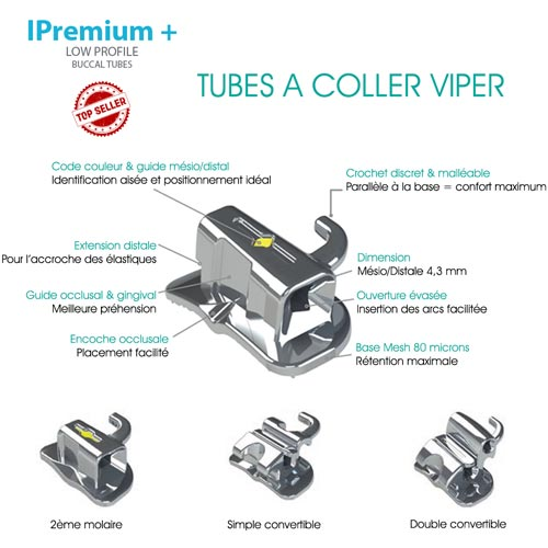 Tube Viper low profil à coller